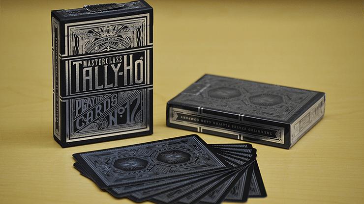 Tally-Ho Chrome Black Masterclass Playing Cards - magic