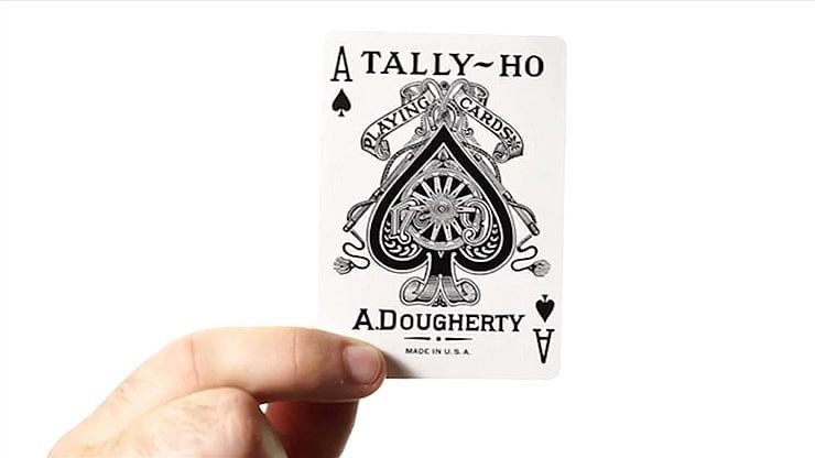 Tally-Ho White Playing Cards (Fan Back - First Edition)
