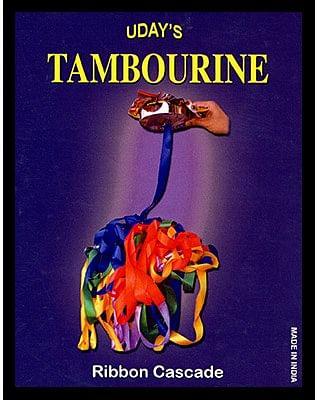 Tambourine Brass with Ribbon - magic