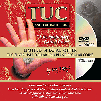 Tango Ultimate Coin - Limited Special Silver - Half Dollar 1964 plus 3 Matching Coins - magic