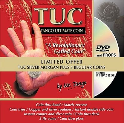 Tango Ultimate Coin - Limited Special Silver - Morgan plus 3 Matching Coins - magic