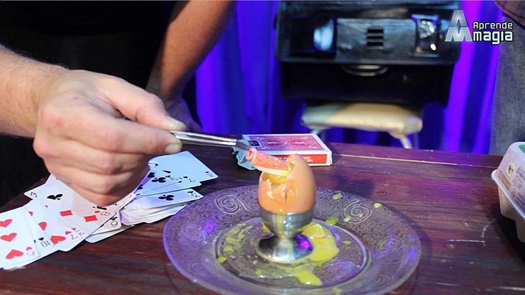 THE CARD INTO THE EGG