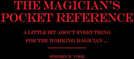 The Magician's Pocket Reference - magic
