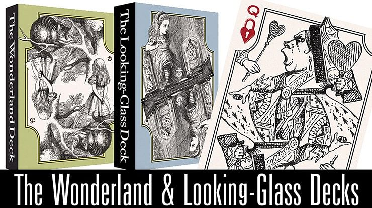 The Wonderland and Looking-Glass Playing Card Set - magic