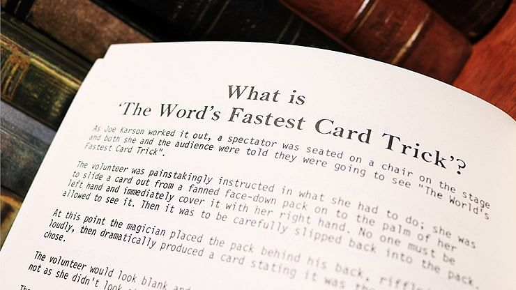 The World's Fastest Card Trick