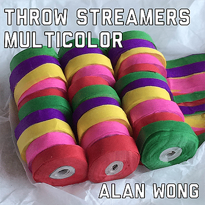 Throw Streamers Multi-Colored (10 pack) - magic