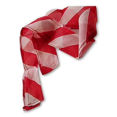 Thumb Tip Streamer (Red and White) - magic