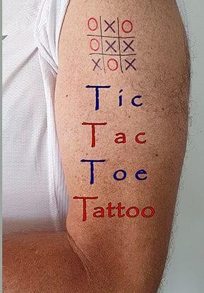 Tic Tac Toe Tattoo - magic
