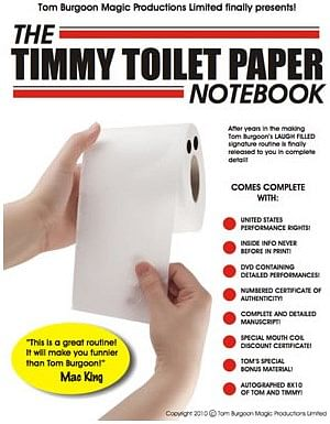 Timmy Toilet Paper Notebook - magic