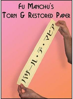Torn and Restored Paper - magic