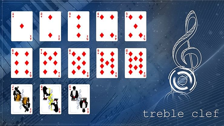Treble Clef Playing Cards (Blue)