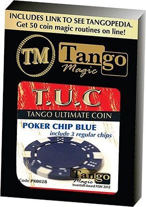 TUC Poker Chip plus 3 regular chips - magic