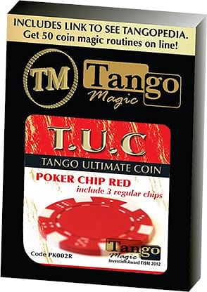 TUC Poker Chip Red plus 3 regular chips - magic