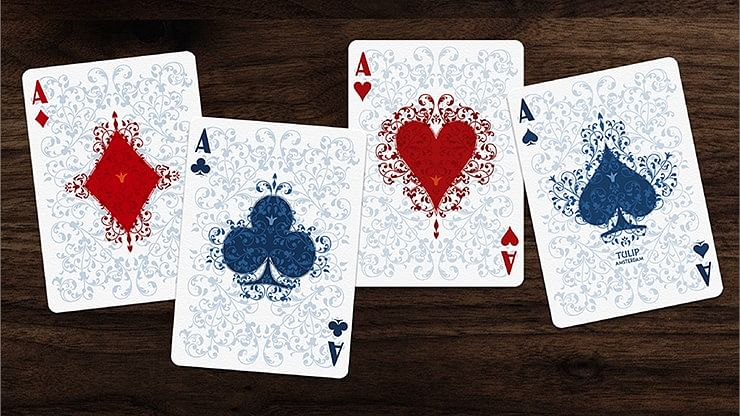 Light Blue Tulip Playing Cards