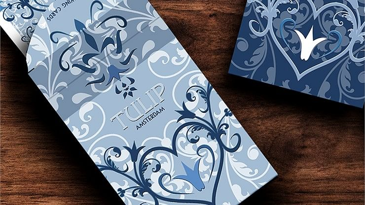 Light Blue Tulip Playing Cards - magic