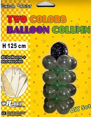 Two Colored Balloon Column - magic