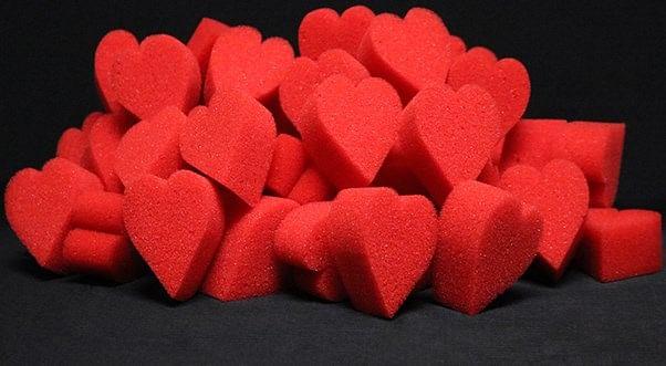 Ultra Soft Red Hearts Bag of 50 - magic