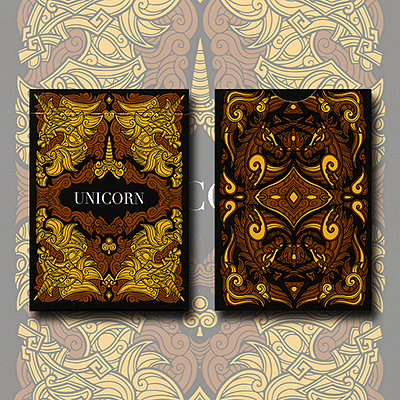Unicorn Playing Cards (Copper Edition) - magic