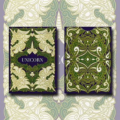 Unicorn Playing Cards (Emerald Edition) - magic