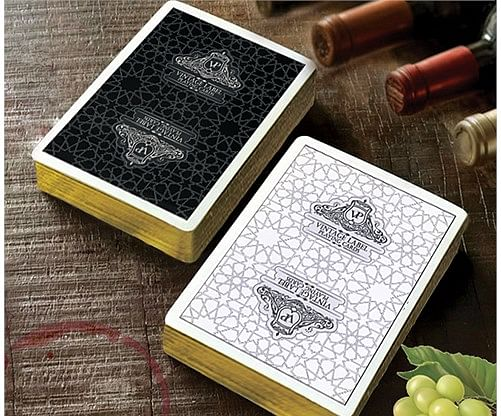 Vintage Label Playing Cards (Gold Gilded Black Edition)