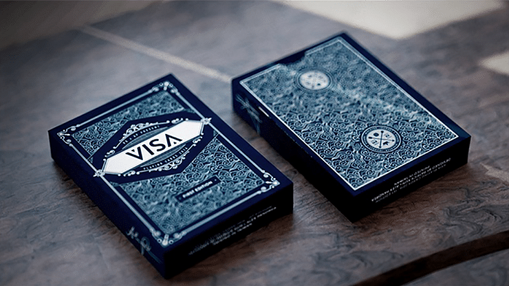 Visa Blue Playing Cards - magic