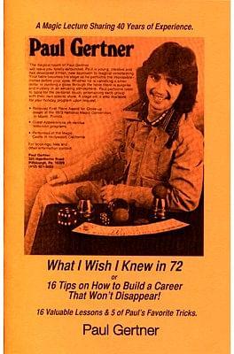 What I Wish I Knew in 72 - magic