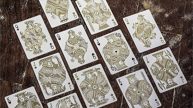 White Gold Edition Joker and the Thief Playing Cards