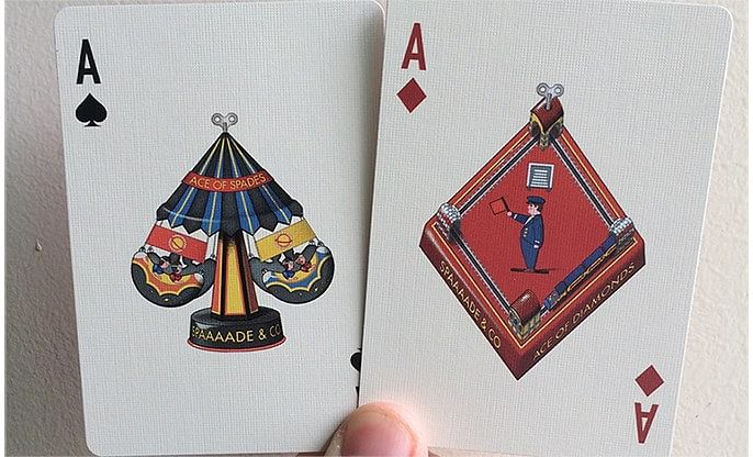 Wind-Up Playing Cards