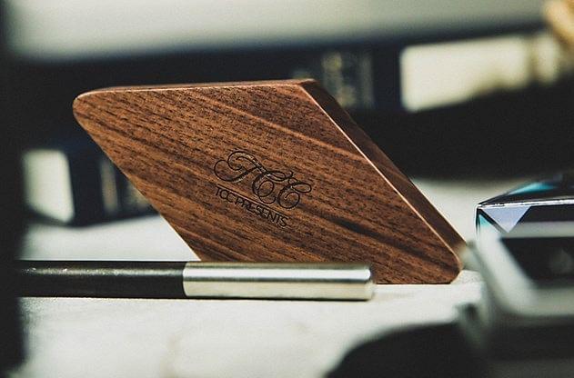 Wooden Playing Card Display - magic