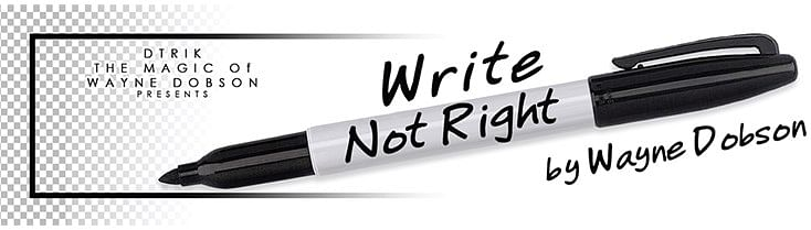 Write, Not Right Sharpie - magic