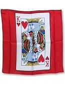 18in Silk King of Hearts Card (Red) Accessory