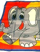 18in Silk Elephant Accessory