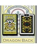 Bicycle Dragon Back Playing Cards (Yellow) Deck of cards