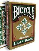 Bicycle Leaf Back Deck (Green) Deck of cards