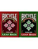 Bicycle Leaf Back Holiday Playing Cards