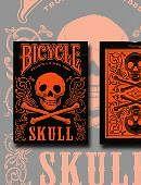 Bicycle Skull Metallic (Orange) Deck of cards