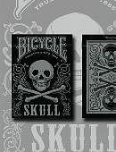 Bicycle Skull Playing Cards (Metallic Silver)