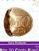 Bite Coin - 50 Euro Cents Gimmicked coin