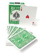 Bicycle Green Playing Cards Deck of cards