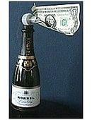 Champagne Surprise trick Trick