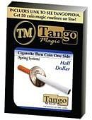 Cigarette Through Half Dollar Trick