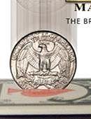 Coins thru Deck - Quarter Dollar Gimmicked coin