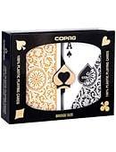 Copag Plastic Playing Cards Double-Deck Set (Bridge Size - Black/Gold) Deck of cards
