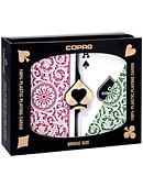 Copag Plastic Playing Cards Double-Deck Set (Bridge Size - Green/Burgundy) Deck of cards
