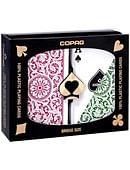 Copag 1546 Plastic Playing Cards Bridge Size Regular Index Green/Burgundy Double-Deck Set Deck of cards