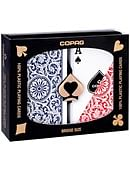 Copag Plastic Playing Cards Double-Deck Set (Bridge Size - Red/Blue) Deck of cards