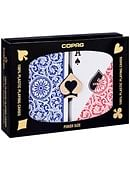 Copag 1546 Plastic Playing Cards Poker Size Regular Index Red/Blue Double-Deck Set Deck of cards