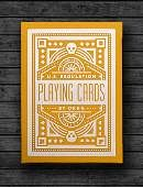 DKNG Yellow Wheel Playing Cards Deck of cards