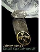 Double Face Coin Thru Bill Trick