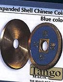 Expanded Shell - Chinese Coin - Brass (Blue)